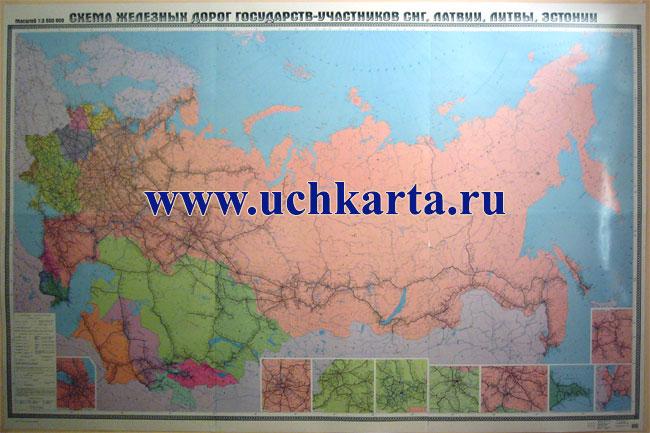 Карта железных дорог России.